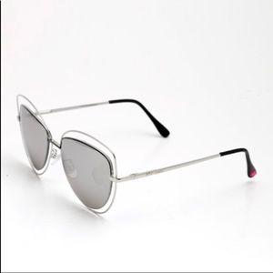NWT Betsey Johnson Double Rim Cat Eye Sunglasses.